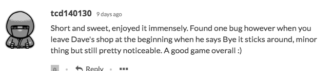 A comment about The Tiny Button Game